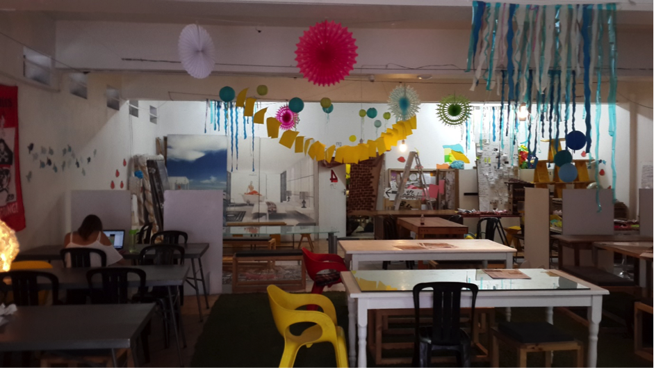 """""""Our Workshop"""" – The Maker Library @ 75 Harrington Street created the perfect space for the participants of the program to explore the physical properties of materials, as well as participate in model making activities."""